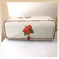 Vintage Hawaiian Anthurium Tin Bread Box