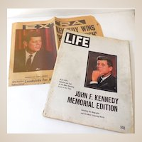 John Kennedy Wins Newspaper & Life Magazine Memorial