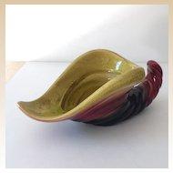 Vintage Hull Pottery Cornucopia Vase