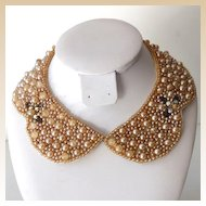 Vintage 1950s Faux Pearls Collar Japan