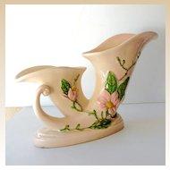 Unusual Large  Hull Pottery Double Vase