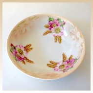 Vintage Floral Pattern Serving Bowl Marked Bavaria