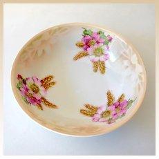 Vintage Floral Pattern Serving Bowl Marked Bavaria