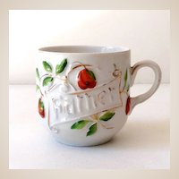 """Vintage Porcelain """"Father"""" Coffee Cup Germany"""