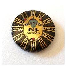 Sample Advertising Tin Denney's Face Powder