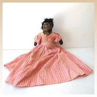 Old Hand Made Black Mammy Toaster Doll