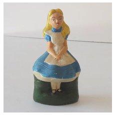 Old Chalk Figure Alice in Wonderland Disney