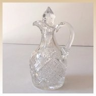 Vintage Cut Crystal Cruet With Stopper