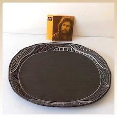 Artist Signed Pottery Platter Japanese
