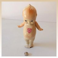 Very Old Composition Kewpie Doll Talc Powder Holder