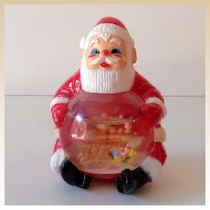Vintage Jolly Santa Clause Snow Globe Snowdome