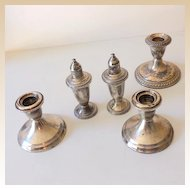 (5) Pieces Weighted Sterling Silver Table Pieces