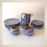 Lusterware Luncheon Set For Six 20 Pieces Japan