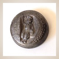 Solid Lead Advertising Paper Weight Dutch Boy Paints