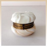 Victorian Wavecrest Lidded Dresser Jar