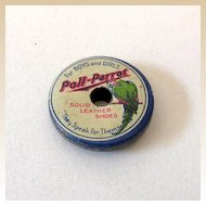 1930s Poll Parrot Childrens' Shoes Tin Advertising Whistle