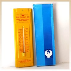 Vintage Working Advertising Thermometer in Orig Box