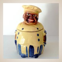 1940s Black Americana Chef Cookie Jar National Silver Co.