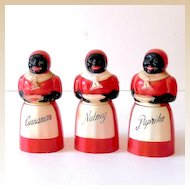 (3)  F&F Mold and Die Works Aunt Jemima Spice Holders