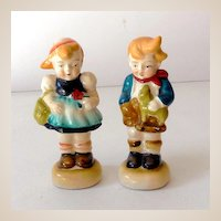 Pair Occupied Japan Hummel Style Figurines