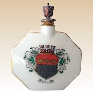 Vintage Porcelain Crown Top Perfume Bottle Germany