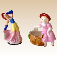 (2) Small Occupied Japan Lady Figurines