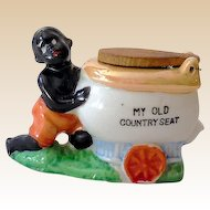 Vintage Black Americana Figurine With Toilet