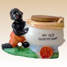 Vintage Black Americana Figurine With Toilet
