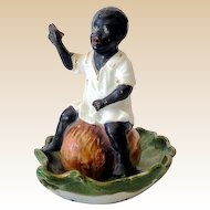 Unusual Black Americana Bisque Figurine