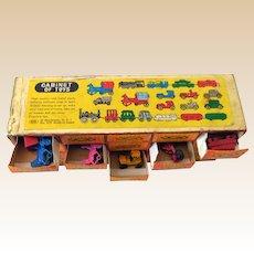 1950s Miniature Toy Vehicle Set (20) In Original Box