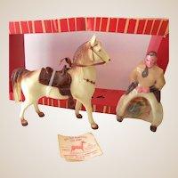1960s Ohio Plastic Cowboy & Horse Mint in Box