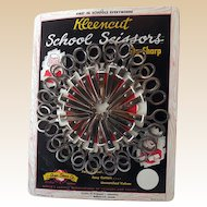 Vintage School Scissors Store Display with Scissors
