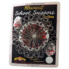 Vintage School Scissors Store Display with Scissors