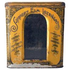 Old Tin & Glass Pharmacy Display Bin Slippery Elm