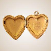 Vintage Gold Filled Heart Shaped Locket