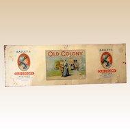 Bagley's Tobacco Tin Advertising Sign Store Display