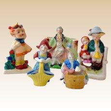 (5) Occupied Japan Ceramic Figurines