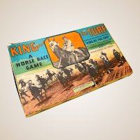 "Vintage Milton Bradley Horse Race Game ""King of the Turf"""