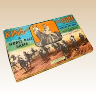 "Vintage Milton Bradley Horse Race Game ""King of the Turf"""