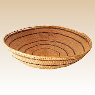 LARGE Vintage Hand Made Indian Basket Bowl