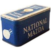 Vintage 1920s-30s Mazda Auto Lamps Tin Box
