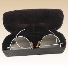 Child Size Eyeglasses Spectacles In Original Case