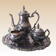 Antique Victorian F B Rogers Silver Plated Coffee Set