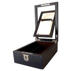 Gentleman's Shaving Box With Beveled Mirror
