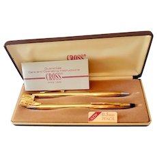 Vintage Classic 10K Filled Cross Pen & Pencil Set