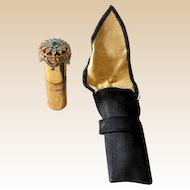 1940s Jeweled Atomette Perfume Atomizer w/ Pouch