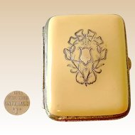 Antique Celluloid Coin Purse Sterling Silver Inlay