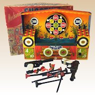 Wyandotte Tin Litho Mechanical Shooting Gallery in Box
