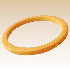 Vintage Creamed Corn Yellow Bakelite Bracelet