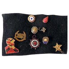 Group Of Vintage Mens Fraternal & School Pin Backs